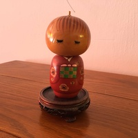Antique japanese,s wooden doll