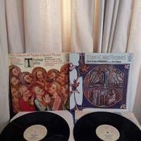 Two lps vinyl church songs records.