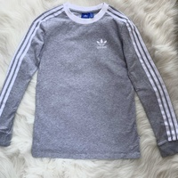 Adidas grey long sleeve fitted top