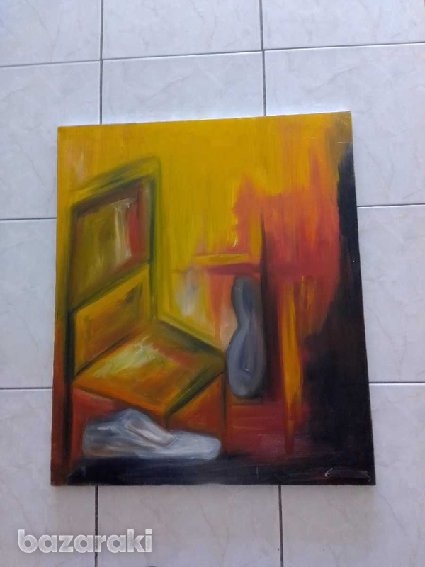 Artist original paint 70 x 85 oil on canvas signed by the artist.-3