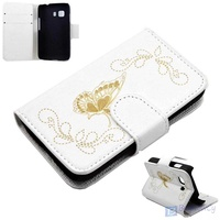 Flip case for samsung galaxy young 2 butterfly white