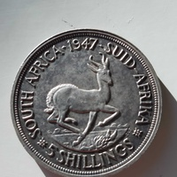 South africa 1947 silver coin