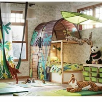 Kids two story adjustable bed