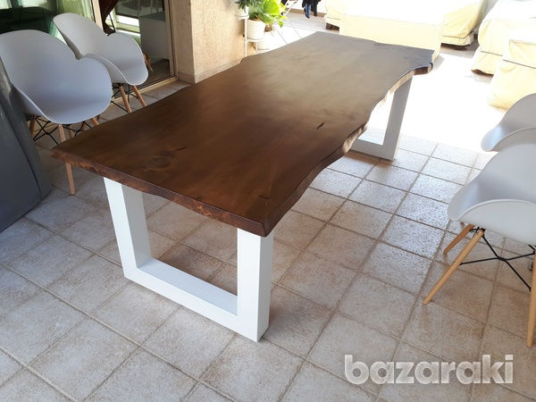 Live edge dining table-3