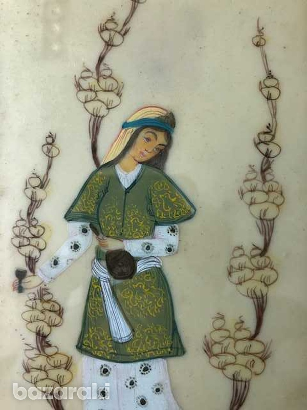 Antique middle east picture of a young lady-2