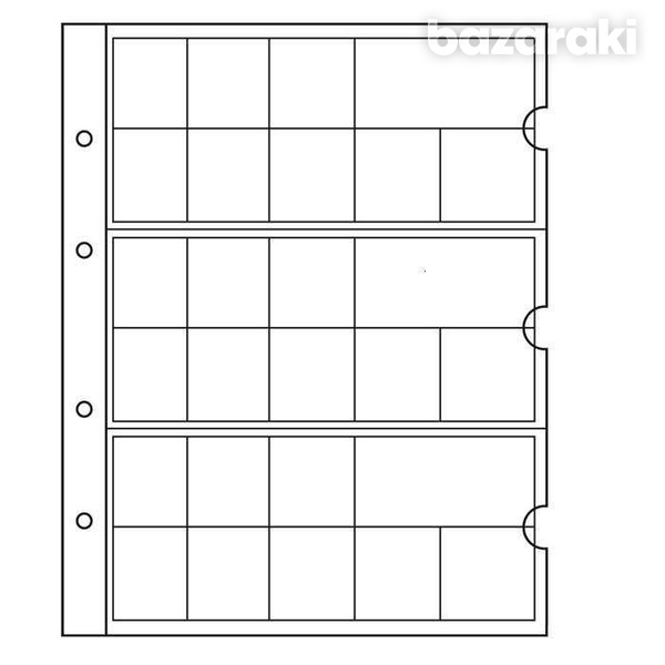 Numis pack of 5 pages for 15 euro countries 19,5x22,5cm