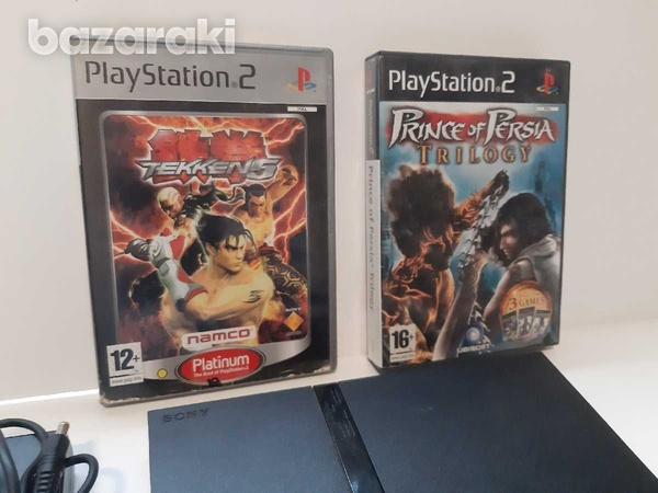 Playstation 2 slim with hdmi converter and 4 games-5
