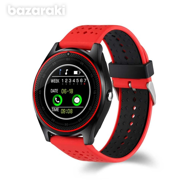 New v9 smart watch with sim card slot camera bluetooth for android ios-2