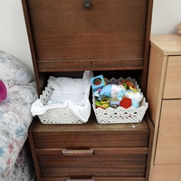 Drawer with foldable table
