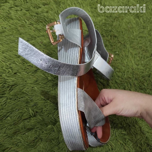 Silver sandals-4