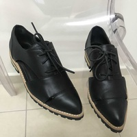 Aldo womens oxford shoes black leather size 35
