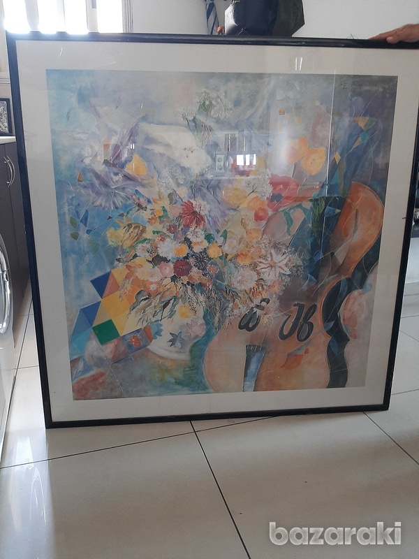One x one metre print with frame and class-5