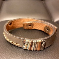 Handmade exclusive leather bracelet