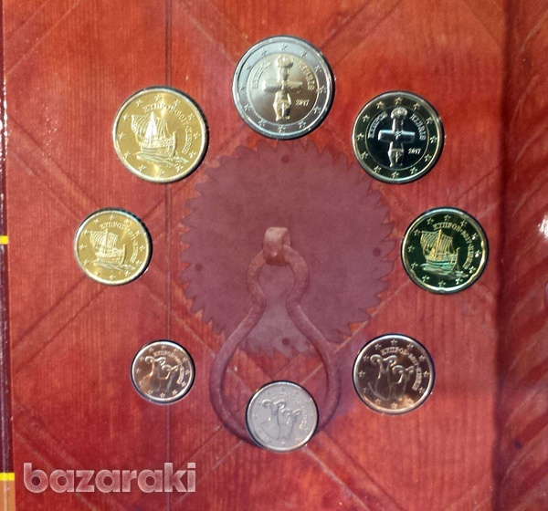 Cyprus coins in official bank's blister case for collectors-2