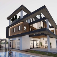 Brand new modern 5 bedroom villa in agios athanasios