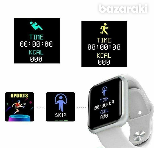 Fitness watch tracker heart rate blood pressure oxygen calories-7