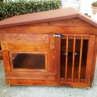 Pallet dog house for any size from l/m/s