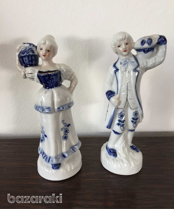 Vintage man and lady figurines 16 cm height-2