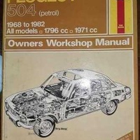 Vintage retro antique peugeot 504 owners workshop manual by haynes