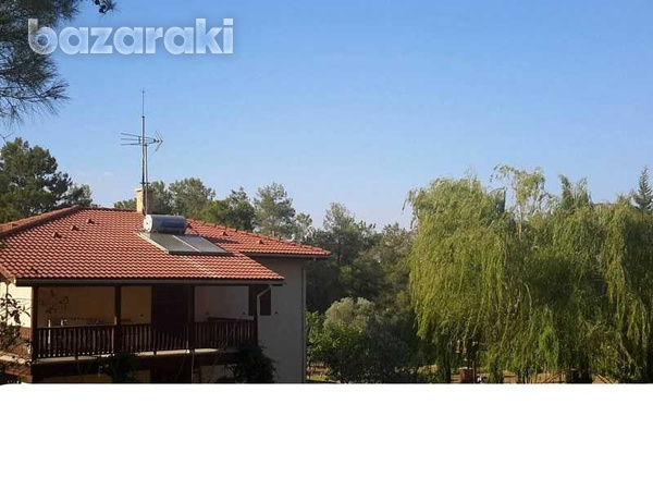Detached house with big yard, green area, pool,furnished in pyrga-1