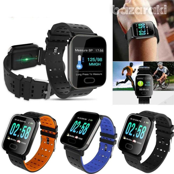 Bluetooth smart watch blood pressure heart rate monitor fitness univer-1