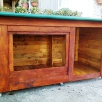 Our latest creation for your pet - pallet dog house for s/m/l/ dogs
