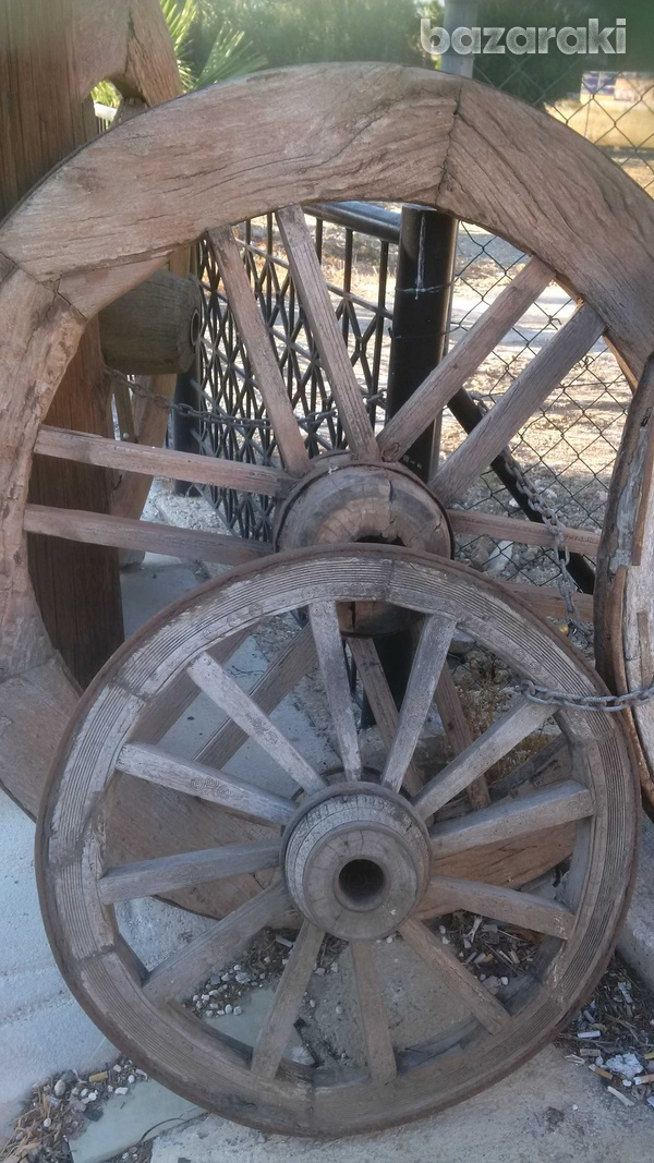 Wooden wheel antique