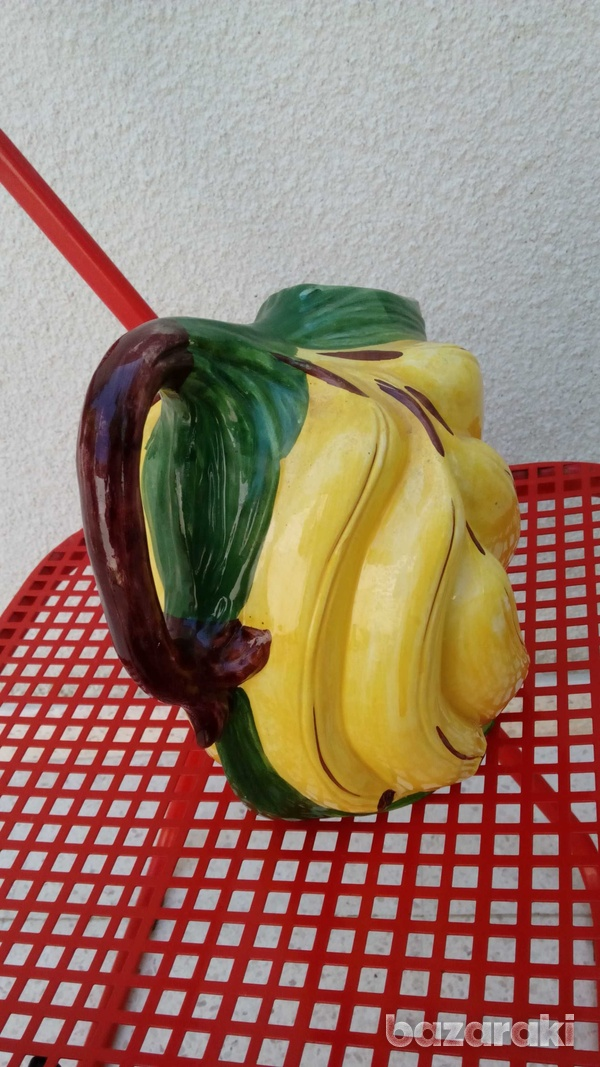 Italian handpainted retro banana shaped vase-6