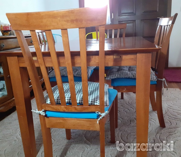 Solid wood dinner table-6