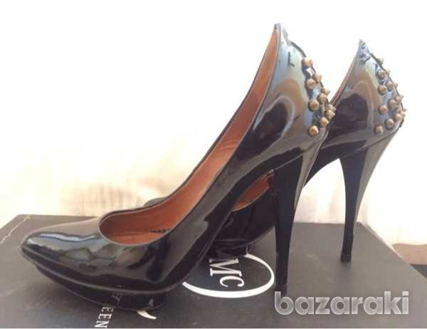 Mcq alexander mcqueen studded patent leather pumps black size 35-35.5-2
