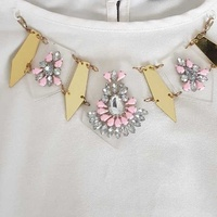 White blouse with removable necklace