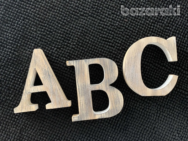 Zara home letters a b cdecoration from wood-1