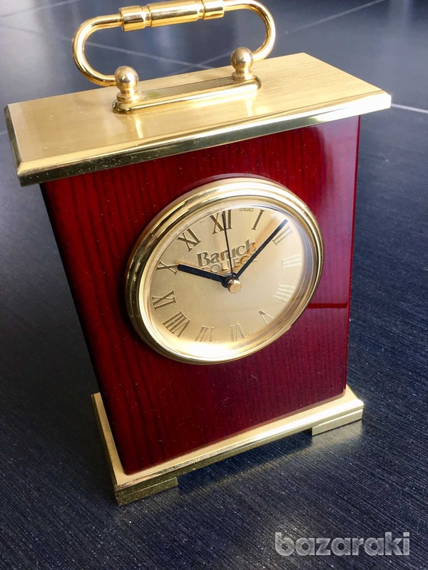Classic solid wood and copper table clock-1