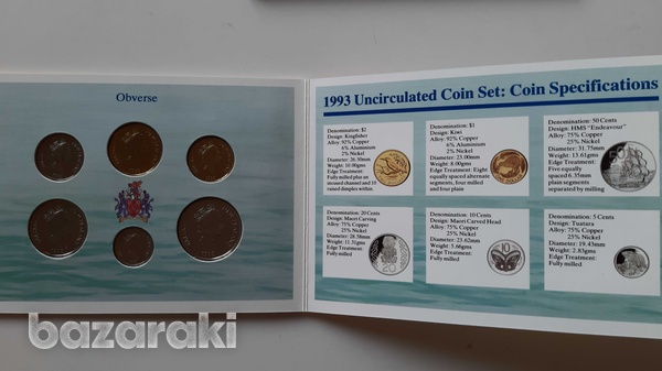 New zealand 1993 uncirculated coin set in blister - look at the photos-7