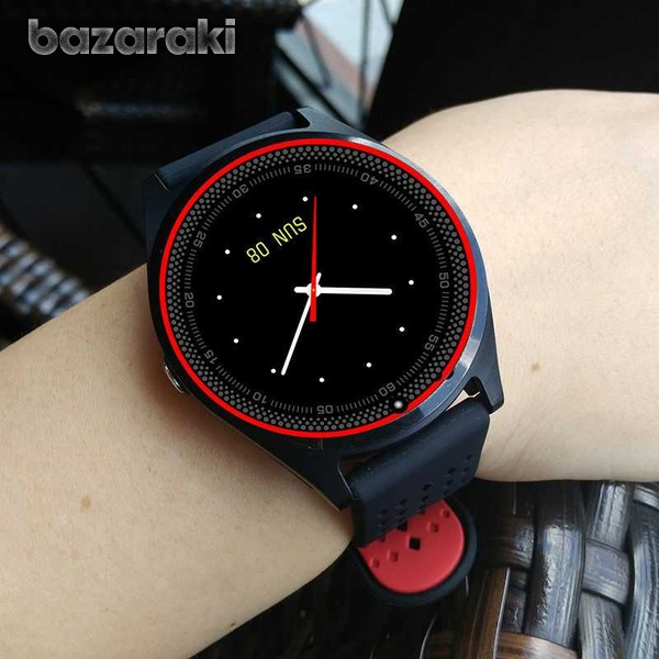 New v9 smart watch with sim card slot camera bluetooth for android ios-1