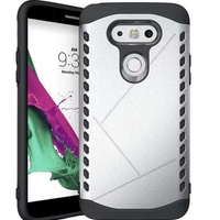 Lg g5 armor case hard back cover tpu pc matte frosted shield silver