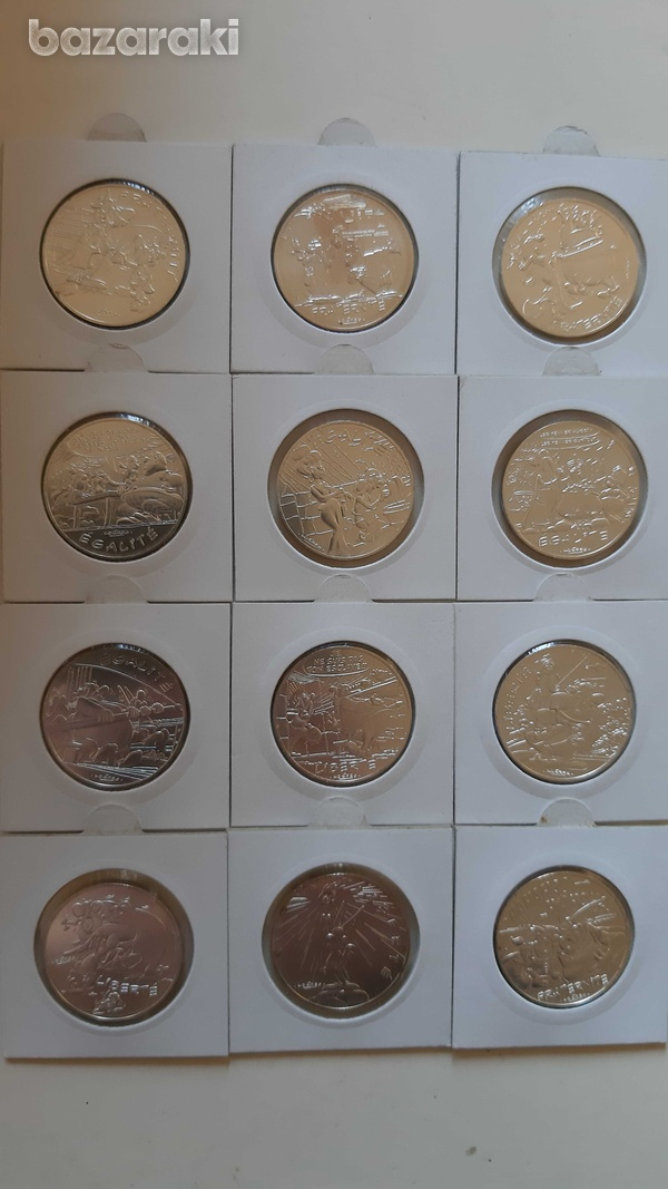France 12 silver collector's coins with asterix - look at the pictures-1