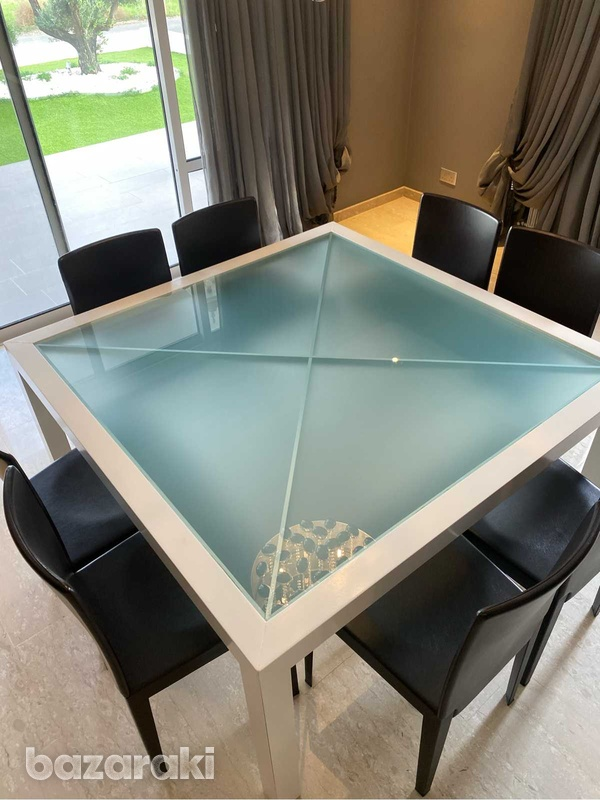 Square dining table with chairs-7