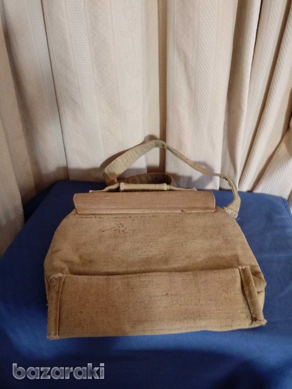 An american post officer bag of general during war.-2