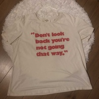 White slogan t-shirt - large