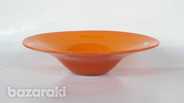 Vintage art glass bowl 23.5x8cm in very good condition for decor-4