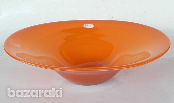 Vintage art glass bowl 23.5x8cm in very good condition for decor-6