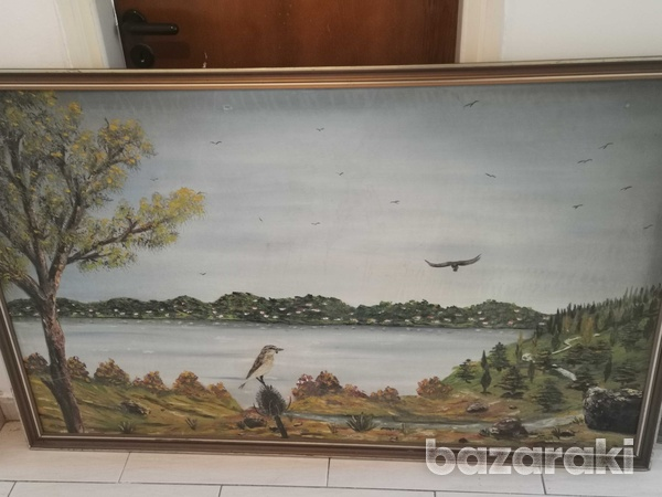 Canvas paint with signature-3