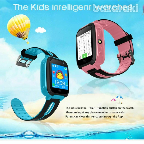 Children safe smart watch 2gtouch screen location tracker with came-1