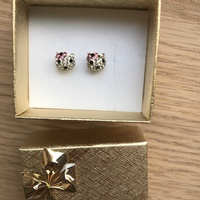 Silver baby earrings hello kitty