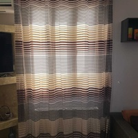 Set curtains with the curtain rods