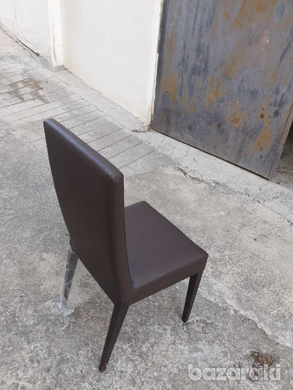 Extendable dining table with 8 leather chairs/ τραπέζι με 8 καρεκλες-5