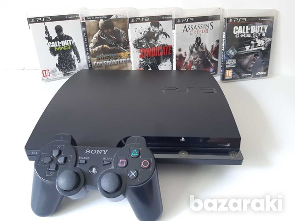Playstation 3 slim 300gb with games