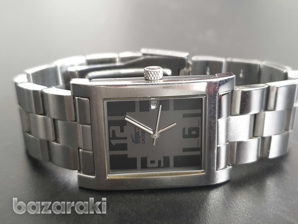 Lacoste luxury silver watch stainless steel swiss made-2