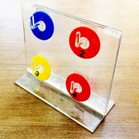 Acrylic table stand with hooks